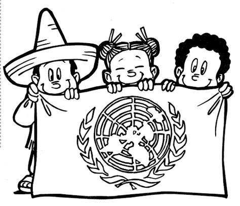 imagenes para colorear octubre pinto dibujos bandera de las naciones unidas para