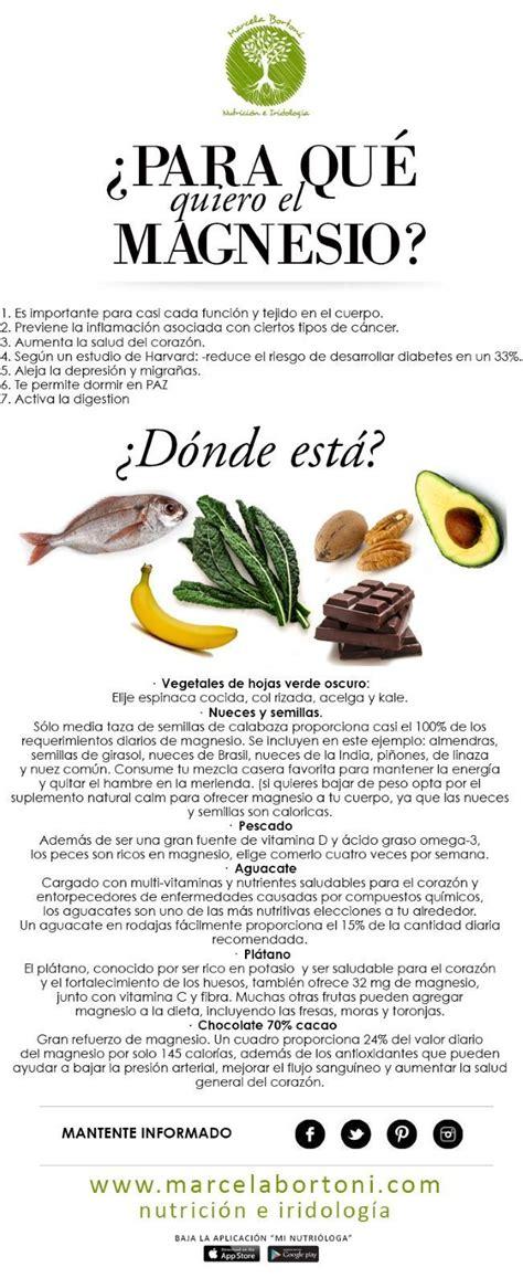 sirve el magnesio  donde podemos encontrarlo salud natural  food