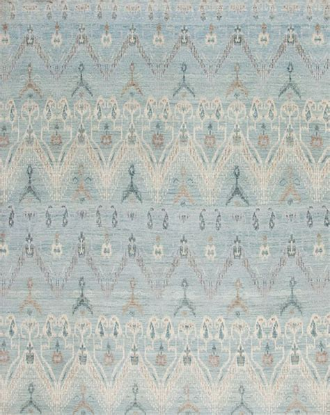 Light Blue Kitchen Rugs Light Blue Ikat Rug Contemporary Rugs Minneapolis By Cyrus Artisan Rugs