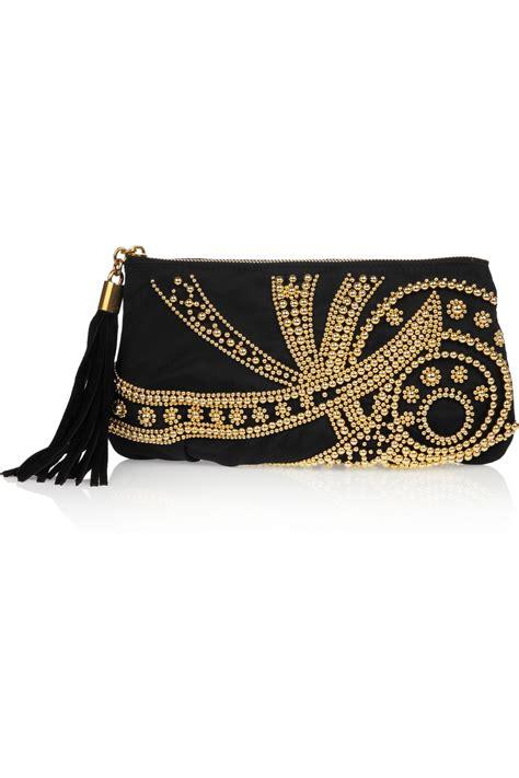 Emilio Pucci Silk Clutch Bag emilio pucci beaded silk clutch in black lyst