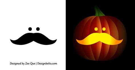 free simple easy pumpkin carving stencils patterns for - Pumpkin Stencils Easy