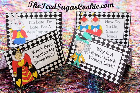 mad hatter card template in photo booth props digital