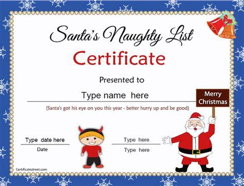 xmas award certificate ideas special certificates or certificates from santa certificatestreet