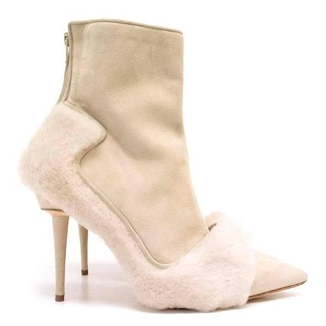 Boots Anak Piotex Grey Suede Babypink 1 manolo blahnik pointed boots with shearling fur and suede for sale at 1stdibs