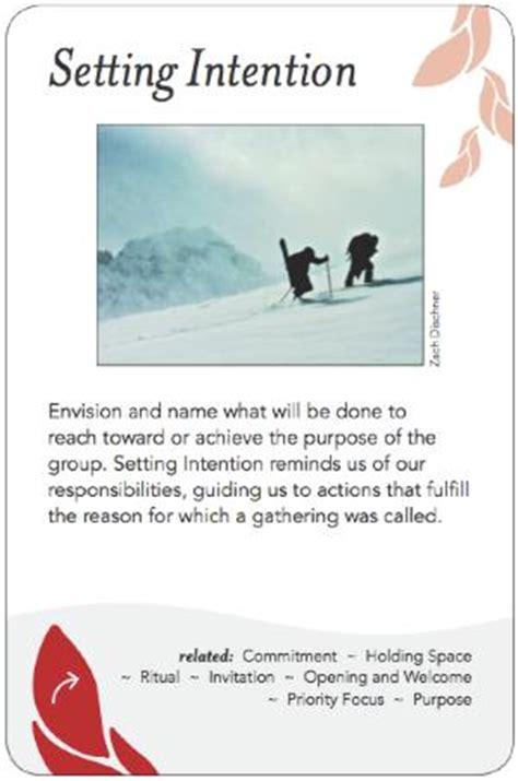 group works pattern language cards setting intention group works