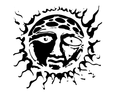 sublime sun coloring page sun black and white cliparts co