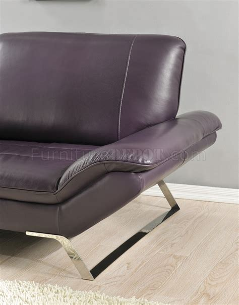 eggplant couch roxi sofa in eggplant full leather by at home usa w options
