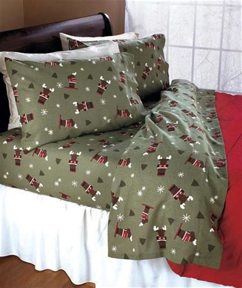 Cozy Soft Flannel Sheet Set Bedding In Owl Moose Or Bed Flannel Sheets