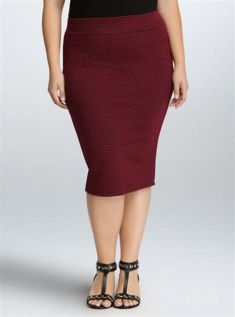 checkered knit pencil skirt torrid