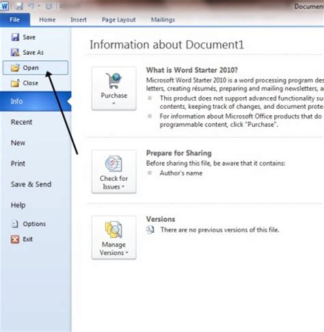 Open Word How To Open A Saved Document Step By Step Guide