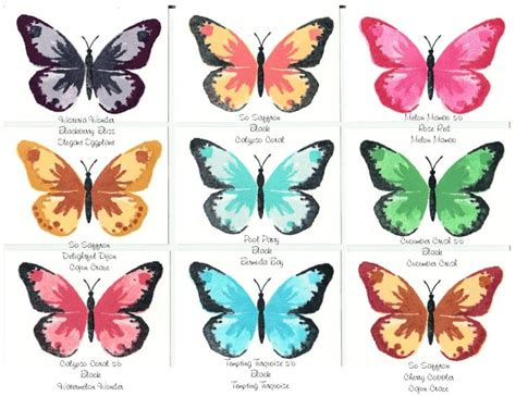 butterfly colors watercolor wings ideas by lorita koehn just trying out