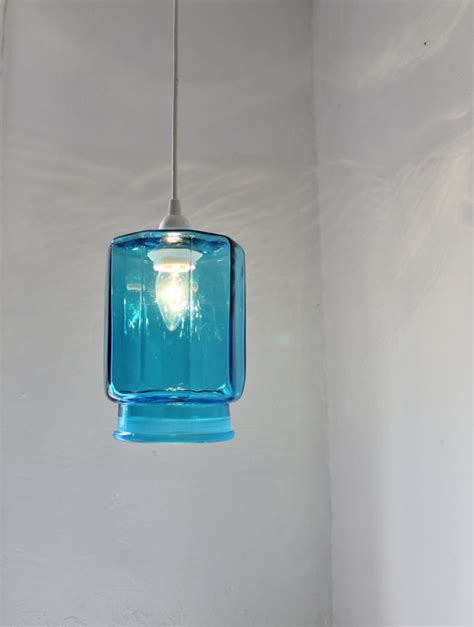 sapphire blue kitchen canister pendant light by