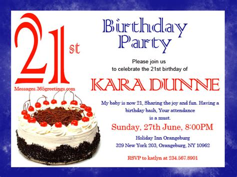 21st birthday invitation sms 21st birthday invitations 365greetings