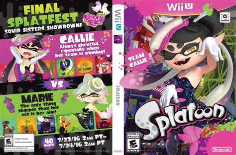 the hook an unofficial splatoon saga books nintendo shares printable alternative boxart for splatoon