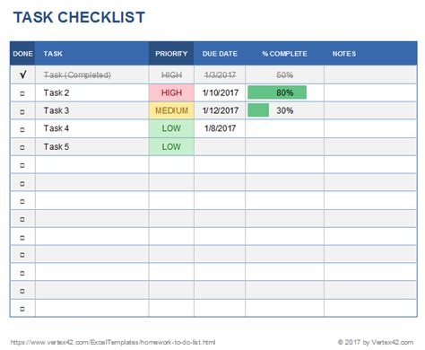 tasks template free task manager spreadsheet template