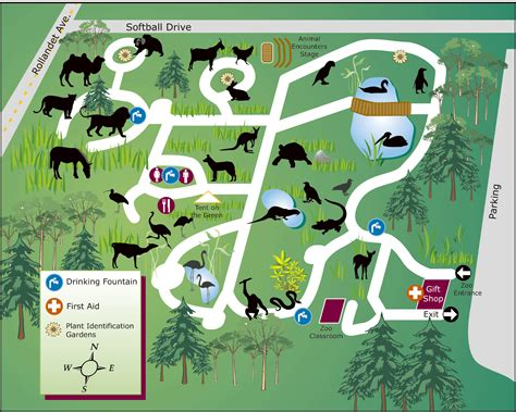 map of oregon zoo zoos idaho falls