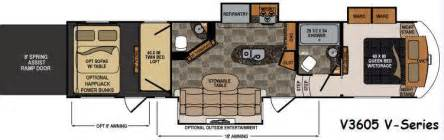 Voltage Rv Floor Plans voltage v series toy hauler fifth wheel rv sales 6