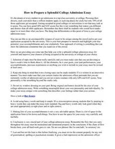 College Application Essay Why This School How To Prepare A Splendid College Admission Essay Pdfsr
