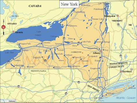 printable map new york state printable us state maps printable state maps