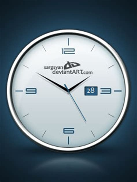 analog clock a 1 by adni18 on deviantart analog clock with date by sargsyan on deviantart