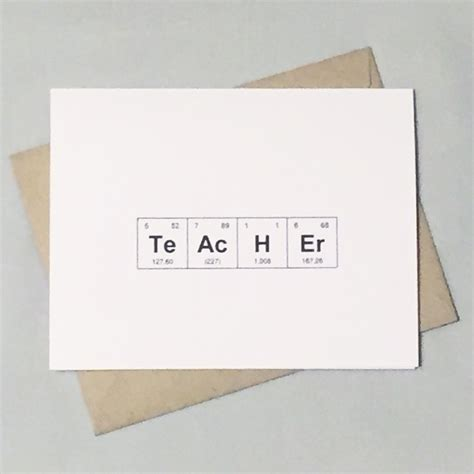 Thank You Letter To Chemistry Science Chemistry Card Periodic Table Of The