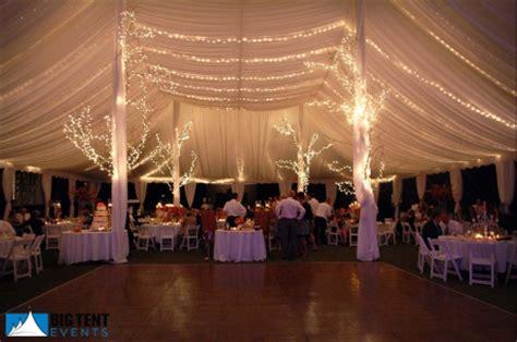 big tent events tent lighitng and decor rentals and ideas