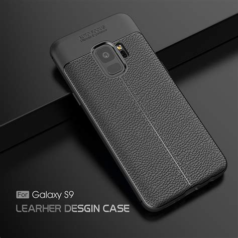 Samsung Galaxy S9 Plus S9 Premium Softcase for samsung galaxy s9 plus luxury shockproof soft silicone tpu leather design for