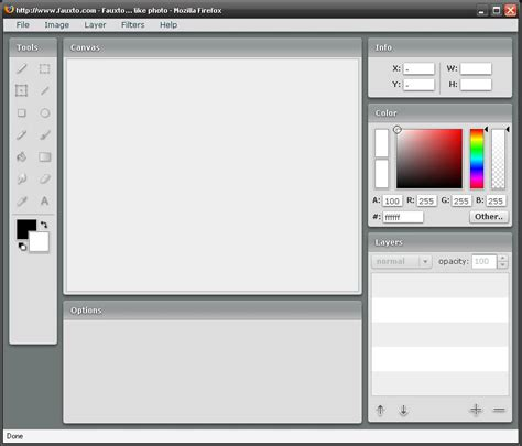 web based r faizal r fauxto web based image editor