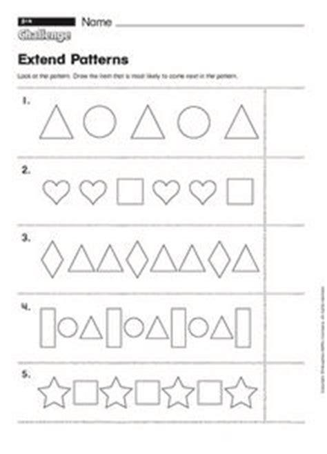 pattern review worksheet extend patterns 1st 2nd grade worksheet lesson planet