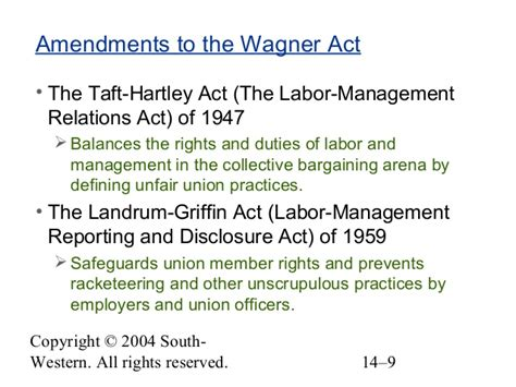 section 14 b of the taft hartley act chapter 14 the dynamics of labor relations