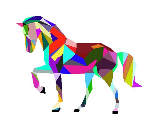 colorful horses colorful vector by pb08arts on deviantart