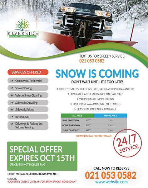templates brochure snow removal professional modern flyer design for nathan laplaca by