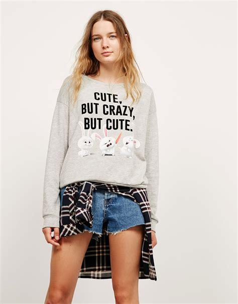 Bershka Hodie Velvet sweatshirts f 252 r damen bershka