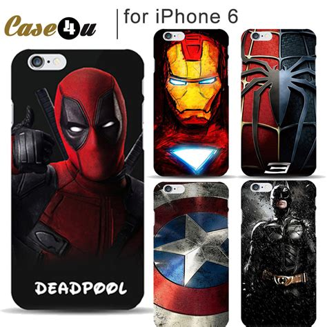 Ibuy All Marvel For Iphone 6 6s Marvel Murah aliexpress buy marvel mobile phone deadpool cover for iphone