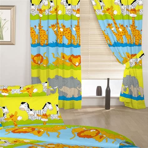 Children S Kids Curtains Savannah Animals 66 Quot By 54 Quot With