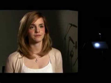 emma watson questions emma watson the tale of despereaux interview youtube