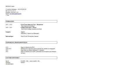 Lettre De Motivation Apb Terminale S Modele Cv Eleve Terminale Document