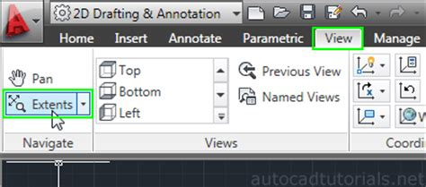 autocad layout zoom extents zoom