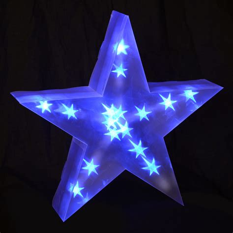 star sphere christmas lights holographic led star light up christmas decoration battery