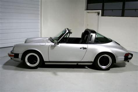 1986 porsche targa 1986 porsche 911 targa silver black sloan cars