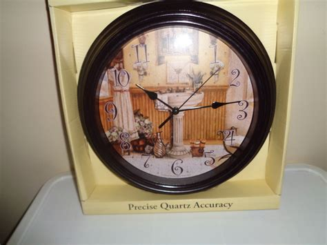 themes new clock bathroom theme wall clock new in box wall clocks