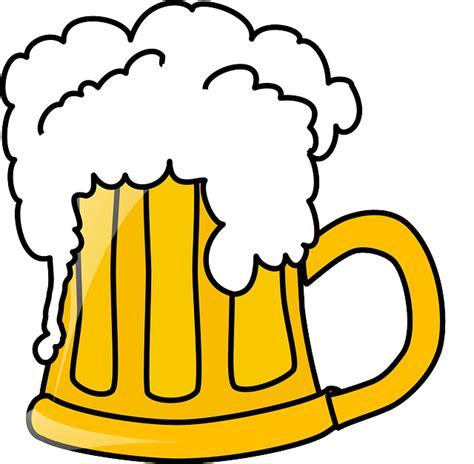 Mug Animasi Gambar Vektor Gratis Buih Mug Bir Alkohol Minuman
