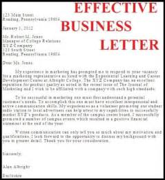 Effective Covering Letter by Writing Effective Business Letters Best Letter Exles