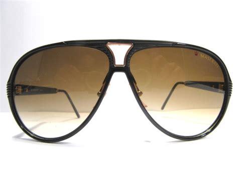 Maserati Sunglasses by Maserati 6126 1980s Vintage Sunglasses Black Frame With
