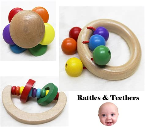 Teether Rattle Iq Baby 2016 new eco friendly safety wooden baby rattle teething ring buy teething ring