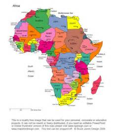 5 regions of africa map africa maps printable free