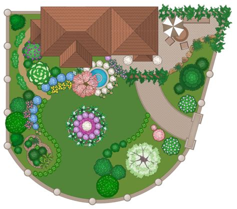 how to draw a garden with flowers conceptdraw sles building plans landscape and garden