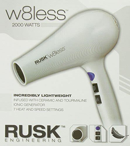 Rusk W8less Hair Dryer Attachments rusk engineering w8less professional 2000 watt dryer buy