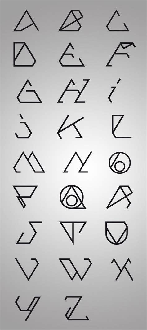 geometric tattoo letters 25 beautiful geometric font ideas on pinterest letter