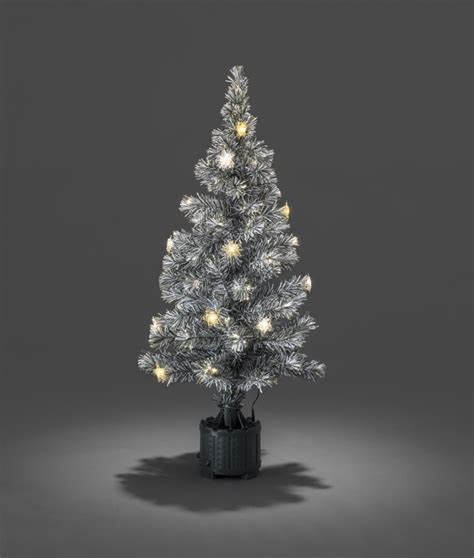 gold tipped christmas tree snow tipped fibre optic tree with